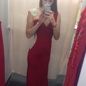Jovani Red Prom Dress